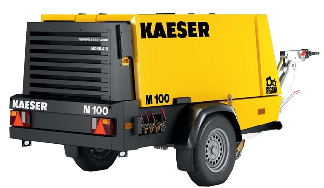 Used 360 CFM Portable Diesel Air Compressor Kaeser M100