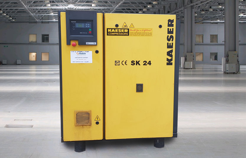 Used Kaeser SK24 15kW 77 CFM Electric Rotary Screw Air Compressor